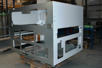 Riveted frame for printing industry